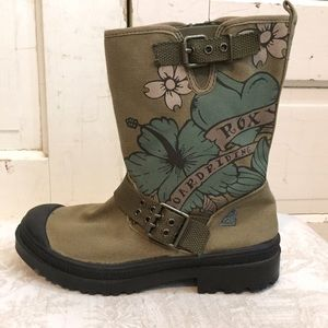 Roxy Platoon Canvas Ankle Boots
